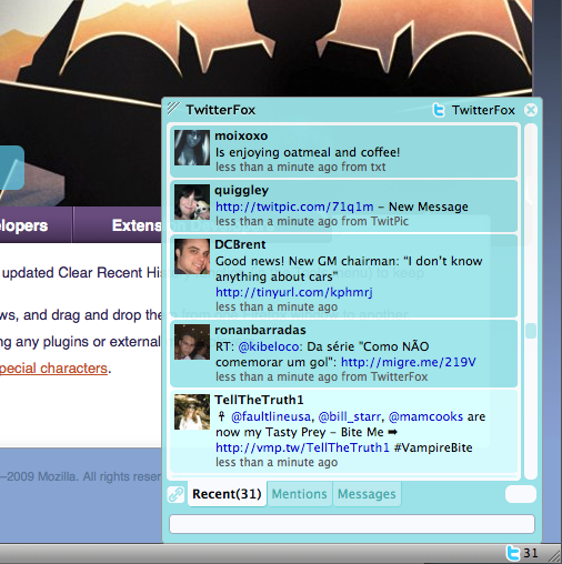 Twitter Fox For Ubuntu